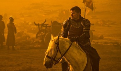 Jaime seeing his army get turned to ashes before his very eyes.